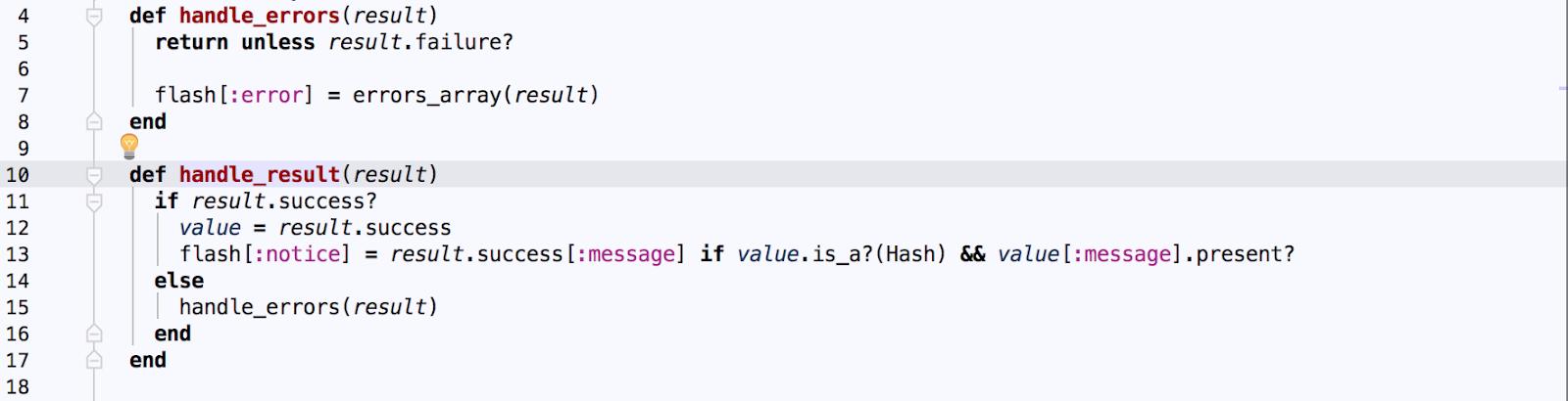 handle errors